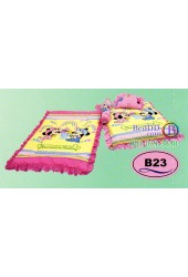 ที่นอนเด็กอ่อนลายมิกกี้เมาส์ Mickey Mouse ลิขสิทธิ์แท้ Satin เด็กเล็กซาติน B23