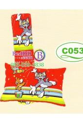 หมอนหนุนหมอนข้างลายทอมกับเจอร์รี่ Tom and Jerry ลิขสิทธิ์แท้ Satin หมอนข้างซาติน C053
