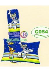 หมอนหนุนหมอนข้างลายทอมกับเจอร์รี่ Tom and Jerry ลิขสิทธิ์แท้ Satin หมอนข้างซาติน C054