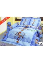 ชุดเครื่องนอนลาย Toy Story ลิขสิทธิ์แท้ Satin ผ้าปูที่นอน ผ้านวมซาติน C114