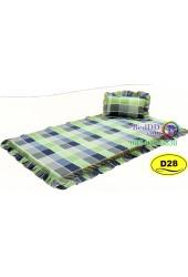 ที่นอนปิคนิคลายตารางสก๊อตสีเขียว Satin ที่นอน 3 ตอนซาติน D28