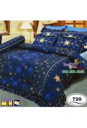 ชุดเครื่องนอนลายดวงดาวสีน้ำเงิน Satin ผ้าปูที่นอน ผ้านวมซาติน SATIN720