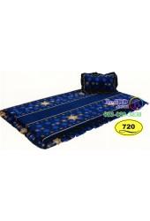 ที่นอนปิคนิคลายดวงดาวสีน้ำเงิน Satin ที่นอน 3 ตอนซาติน SATIN720
