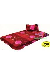 ที่นอนปิคนิคลายดอกกุหลายสีแดง Satin ที่นอน 3 ตอนซาติน SATIN722