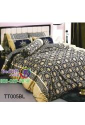 ชุดเครื่องนอนลายกราฟฟิค สีน้ำเงิน TOTO ผ้าปูที่นอน ผ้านวมโตโต้ TT005BL