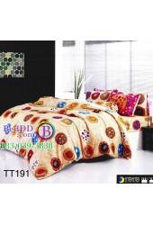 ชุดเครื่องนอนลายเส้นวงกลมโทนพื้นสีน้ำตาล TOTO ผ้าปูที่นอน ผ้านวมโตโต้ TT191