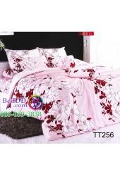 ชุดเครื่องนอนลายเถาดอกไม้สีขาว พื้นชมพู TOTO ผ้าปูที่นอน ผ้านวมโตโต้ TT256