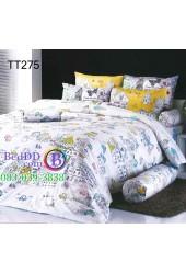 ชุดเครื่องนอนลายการ์ตูนเมืองนอกต่างประเทศสีขาว TOTO ผ้าปูที่นอน ผ้านวมโตโต้ TT275