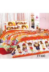 ชุดเครื่องนอนลายการ์ตูนเด็กผู้หญิงโทนสีส้ม TOTO ผ้าปูที่นอน ผ้านวมโตโต้ TT300