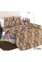ชุดเครื่องนอนลายขนสัตว์เสือดาว สีน้ำตาล TOTO ผ้าปูที่นอน ผ้านวมโตโต้ TT344