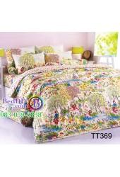ชุดเครื่องนอนลายภาพวาด ทุ่งดอกไม้ TOTO ผ้าปูที่นอน ผ้านวมโตโต้ TT369