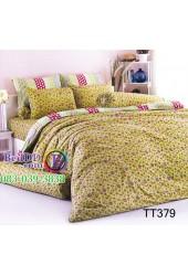 ชุดเครื่องนอนลายดอกไม้ดอกเล็ก พื้นสีเขียว TOTO ผ้าปูที่นอน ผ้านวมโตโต้ TT379