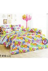 ชุดเครื่องนอนลายดอกไม้โทนสีชมพู เขียว TOTO ผ้าปูที่นอน ผ้านวมโตโต้ TT410PI