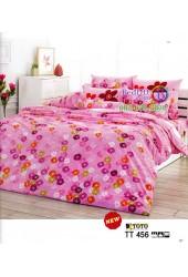 ชุดเครื่องนอนชุดเครื่องนอนลายดอกเล็กสีชมพู พื้นสีชมพู TOTO ผ้าปูที่นอน ผ้านวมโตโต้ TT456