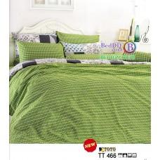 ชุดเครื่องนอนชุดเครื่องนอนลายกราฟฟิคสีเขียว TOTO ผ้าปูที่นอน ผ้านวมโตโต้ TT466