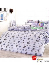 ชุดเครื่องนอนชุดเครื่องนอนลายตัวอักษร ABC พื้นสีเทา TOTO ผ้าปูที่นอน ผ้านวมโตโต้ TT471