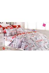 ชุดเครื่องนอนชุดเครื่องนอนลายคู่รัก LOVE STORY โทนสีเทาขาว TOTO ผ้าปูที่นอน ผ้านวมโตโต้ TT478
