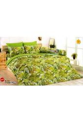 ชุดเครื่องนอนชุดเครื่องนอนลายป่าดงดิบ และนกแก้ว โทนสีเขียว TOTO ผ้าปูที่นอน ผ้านวมโตโต้ TT479