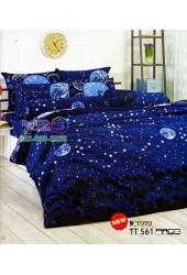 ชุดเครื่องนอนลายดวงดาวโทนสีน้ำเงิน TOTO ผ้าปูที่นอน ผ้านวมโตโต้ TT561