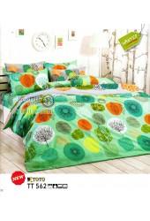 ชุดเครื่องนอนลายกราฟฟิค วงกลมโทนสีเขียว TOTO ผ้าปูที่นอน ผ้านวมโตโต้ TT562