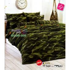 ชุดเครื่องนอนลายพราง ทหารบก โทนสีเขียว TOTO ผ้าปูที่นอน ผ้านวมโตโต้ TT564GR