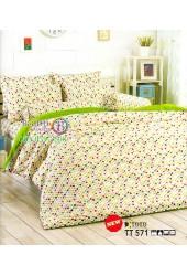 ชุดเครื่องนอนลายจุด โพลก้าดอท Polka Dot โทนสีเขียว TOTO ผ้าปูที่นอน ผ้านวมโตโต้ TT571