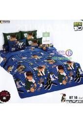 ชุดเครื่องนอนเบนเทน Ben 10 TOTO ผ้าปูที่นอน ผ้านวม ลิขสิทธิ์แท้โตโต้ BT18