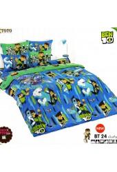 ชุดเครื่องนอนเบนเทน Ben 10 TOTO ผ้าปูที่นอน ผ้านวม ลิขสิทธิ์แท้โตโต้ BT24