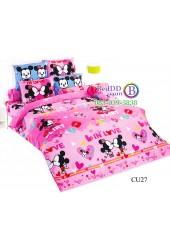 ชุดเครื่องนอนคิวตี้มิกกี้เมาส์ Disney Cuties Mickey TOTO ผ้าปูที่นอน ผ้านวม ลิขสิทธิ์แท้โตโต้ CU27