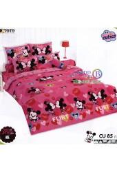 ชุดเครื่องนอนคิวตี้มิกกี้เมาส์ Disney Cuties Mickey TOTO ผ้าปูที่นอน ผ้านวม ลิขสิทธิ์แท้โตโต้ CU85