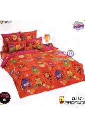 ชุดเครื่องนอนคิวตี้หมีพูห์ Disney Cuties Pooh Bear TOTO ผ้าปูที่นอน ผ้านวม ลิขสิทธิ์แท้โตโต้ CU87