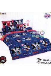 ชุดเครื่องนอนคิวตี้มิกกี้เมาส์ Disney Cuties Mickey TOTO ผ้าปูที่นอน ผ้านวม ลิขสิทธิ์แท้โตโต้ CU88