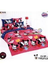 ชุดเครื่องนอนคิวตี้มิกกี้เมาส์ Disney Cuties Mickey TOTO ผ้าปูที่นอน ผ้านวม ลิขสิทธิ์แท้โตโต้ CU89