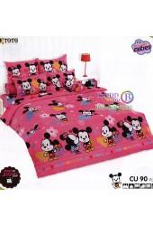 ชุดเครื่องนอนคิวตี้มิกกี้เมาส์ Disney Cuties Mickey TOTO ผ้าปูที่นอน ผ้านวม ลิขสิทธิ์แท้โตโต้ CU90