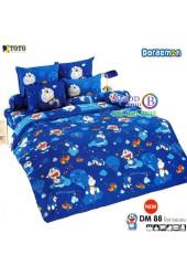 ชุดเครื่องนอนโดราเอมอน Doraemon TOTO ผ้าปูที่นอน ผ้านวม ลิขสิทธิ์แท้โตโต้ DM88