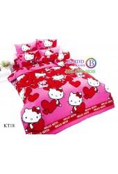 ชุดเครื่องนอนเฮลโล คิตตี้ Hello Kitty TOTO ผ้าปูที่นอน ผ้านวม ลิขสิทธิ์แท้โตโต้ KT18