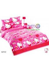 ชุดเครื่องนอนเฮลโล คิตตี้ Hello Kitty TOTO ผ้าปูที่นอน ผ้านวม ลิขสิทธิ์แท้โตโต้ KT22