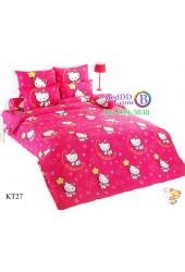 ชุดเครื่องนอนเฮลโล คิตตี้ Hello Kitty TOTO ผ้าปูที่นอน ผ้านวม ลิขสิทธิ์แท้โตโต้ KT27