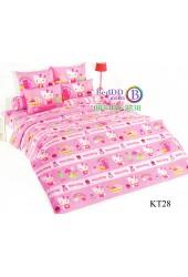 ชุดเครื่องนอนเฮลโล คิตตี้ Hello Kitty TOTO ผ้าปูที่นอน ผ้านวม ลิขสิทธิ์แท้โตโต้ KT28