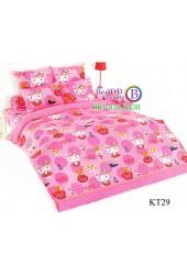 ชุดเครื่องนอนเฮลโล คิตตี้ Hello Kitty TOTO ผ้าปูที่นอน ผ้านวม ลิขสิทธิ์แท้โตโต้ KT29