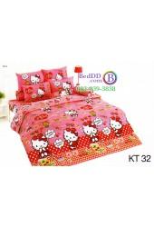 ชุดเครื่องนอนเฮลโล คิตตี้ Hello Kitty TOTO ผ้าปูที่นอน ผ้านวม ลิขสิทธิ์แท้โตโต้ KT32