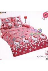 ชุดเครื่องนอนเฮลโล คิตตี้ Hello Kitty TOTO ผ้าปูที่นอน ผ้านวม ลิขสิทธิ์แท้โตโต้ KT34