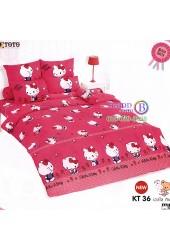 ชุดเครื่องนอนเฮลโล คิตตี้ Hello Kitty TOTO ผ้าปูที่นอน ผ้านวม ลิขสิทธิ์แท้โตโต้ KT36