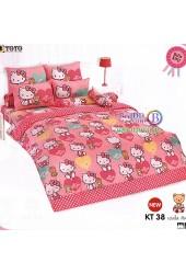 ชุดเครื่องนอนเฮลโล คิตตี้ Hello Kitty TOTO ผ้าปูที่นอน ผ้านวม ลิขสิทธิ์แท้โตโต้ KT38