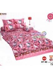 ชุดเครื่องนอนเฮลโล คิตตี้ Hello Kitty TOTO ผ้าปูที่นอน ผ้านวม ลิขสิทธิ์แท้โตโต้ KT40