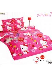ชุดเครื่องนอนเฮลโล คิตตี้ Hello Kitty TOTO ผ้าปูที่นอน ผ้านวม ลิขสิทธิ์แท้โตโต้ KT41