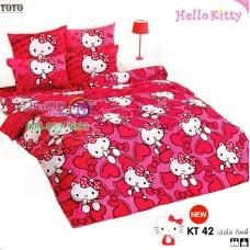 ชุดเครื่องนอนเฮลโล คิตตี้ Hello Kitty TOTO ผ้าปูที่นอน ผ้านวม ลิขสิทธิ์แท้โตโต้ KT42