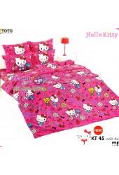 ชุดเครื่องนอนเฮลโล คิตตี้ Hello Kitty TOTO ผ้าปูที่นอน ผ้านวม ลิขสิทธิ์แท้โตโต้ KT45