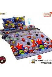 ชุดเครื่องนอนมาร์เวล คาวาอี้ Marvel TOTO ผ้าปูที่นอน ผ้านวม ลิขสิทธิ์แท้โตโต้ KW05