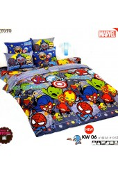 ชุดเครื่องนอนมาร์เวล คาวาอี้ Marvel TOTO ผ้าปูที่นอน ผ้านวม ลิขสิทธิ์แท้โตโต้ KW06